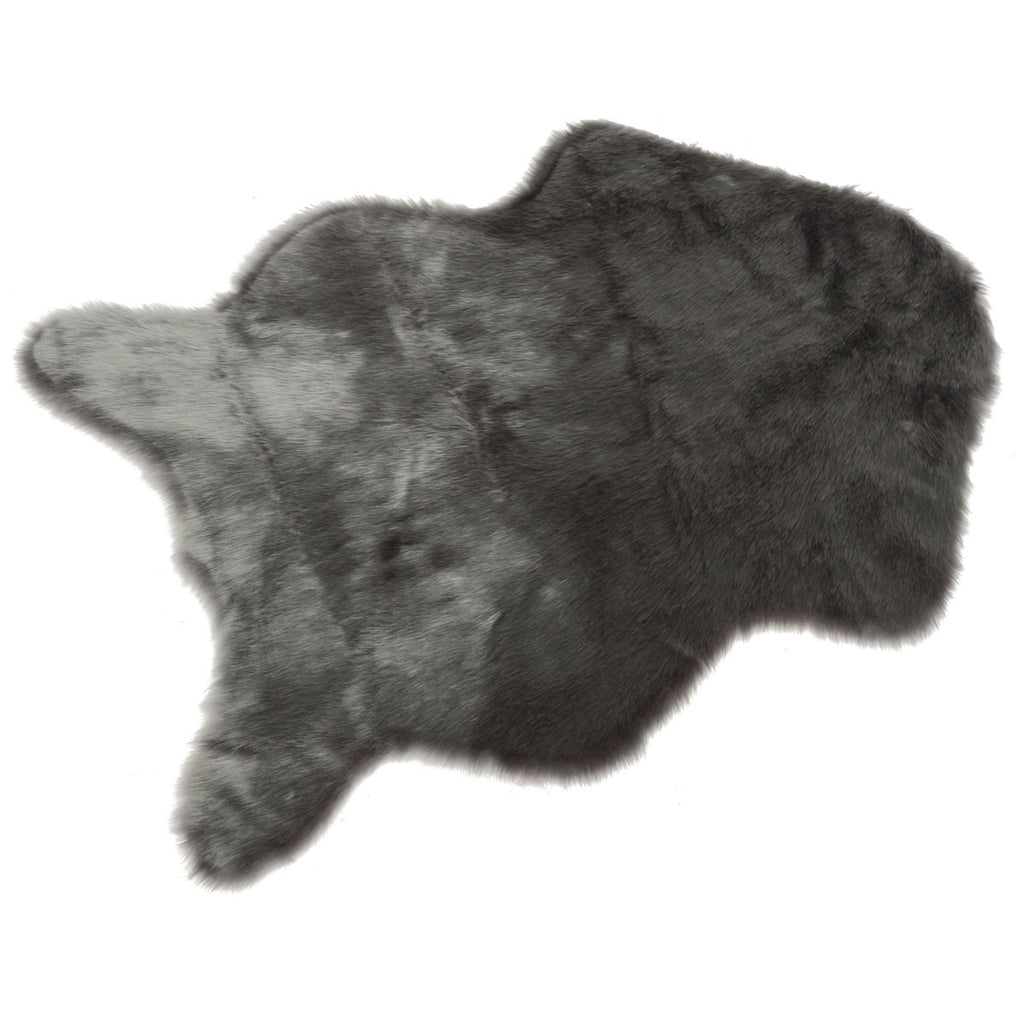 Faux Sheepskin Rug Grey Virtual Glam Shop