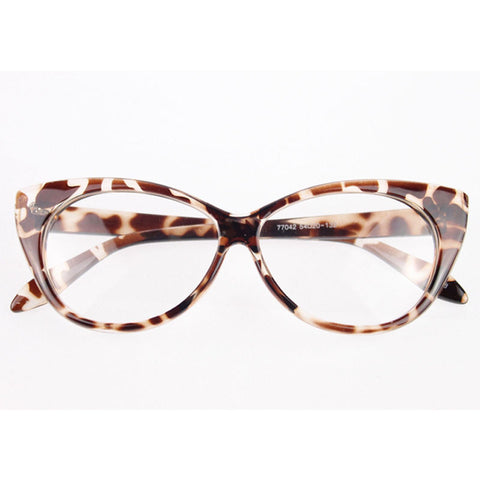 Image of Clear Cat Eye Glam Fashion Eyewear Leopard Virtual Glam Shop