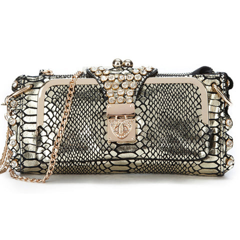 Ladies Night Out Clutch Light Gold Virtual Glam Shop