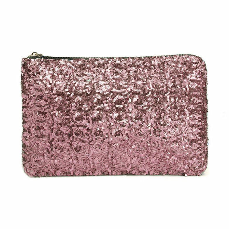 Sequin Clutch Pink Virtual Glam Shop