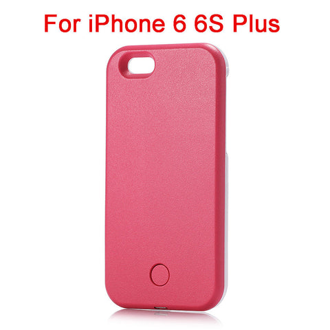 Luxury LED Selfie Phone Case Pink i6 Plus Virtual Glam Shop
