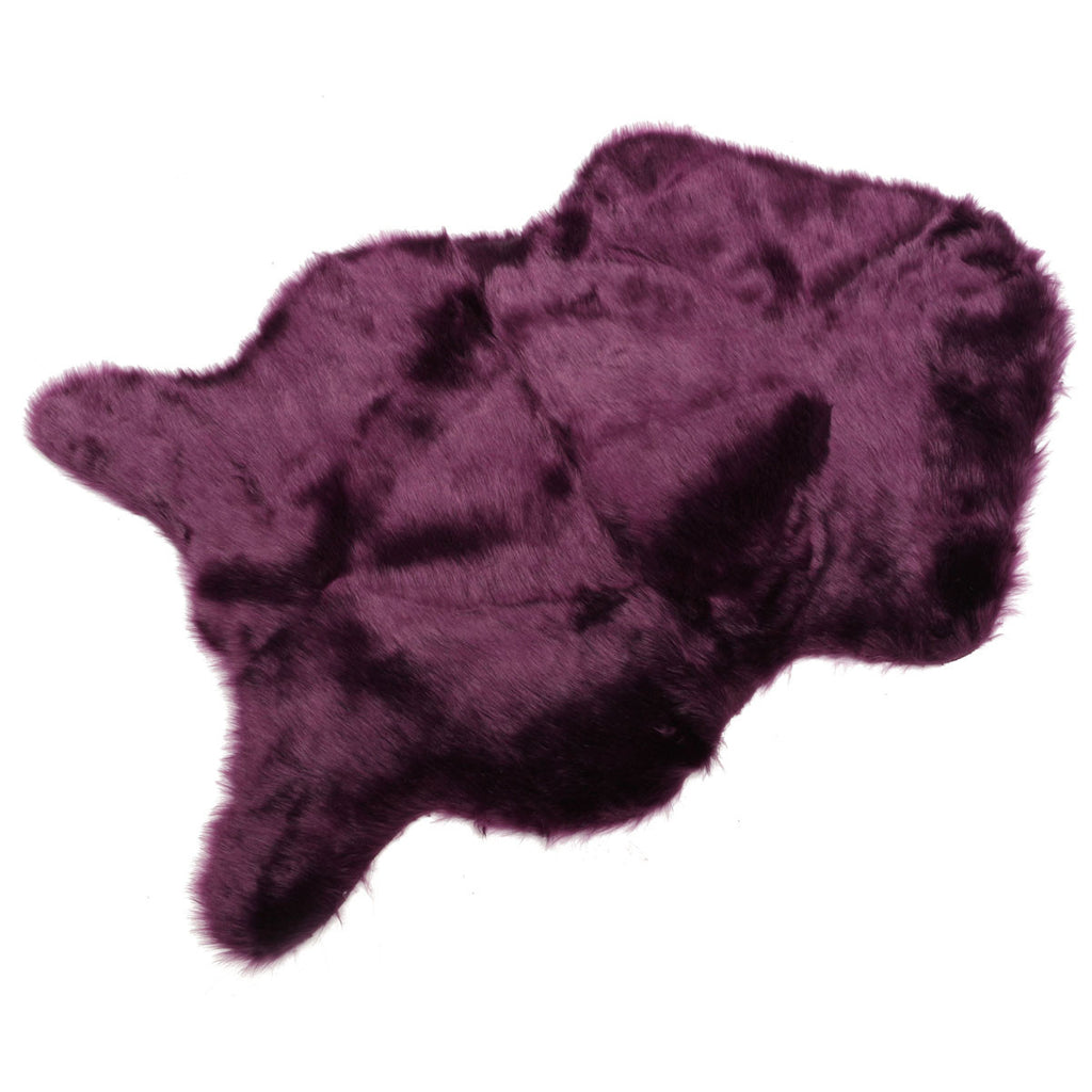 Faux Sheepskin Rug Purple Virtual Glam Shop
