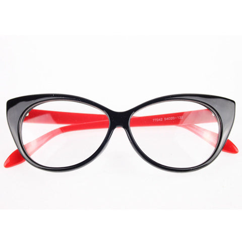 Image of Clear Cat Eye Glam Fashion Eyewear Red Virtual Glam Shop