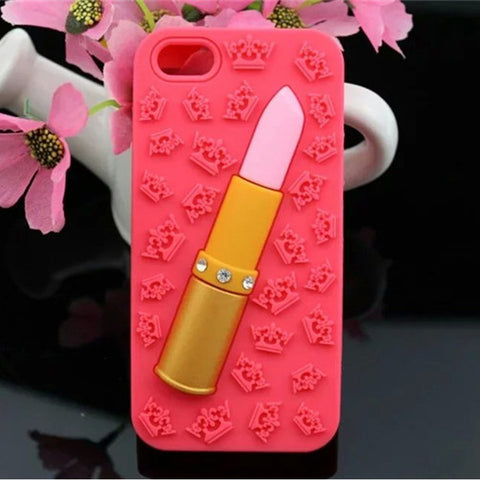 Lip Stick Phone Case Red Virtual Glam Shop