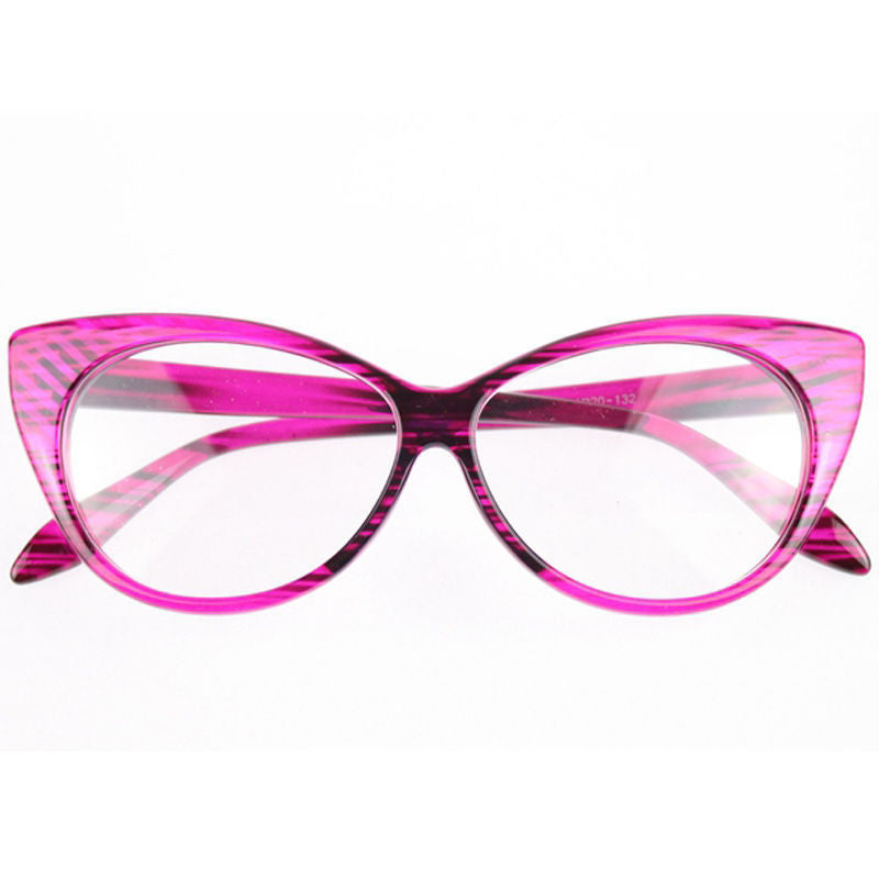 Clear Cat Eye Glam Fashion Eyewear Rose Virtual Glam Shop