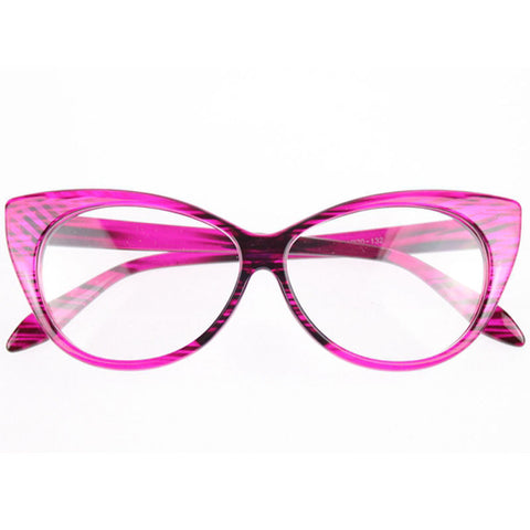 Image of Clear Cat Eye Glam Fashion Eyewear Rose Virtual Glam Shop