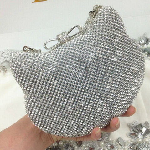 Image of Hello Kitty Crystal Clutch Silver Virtual Glam Shop