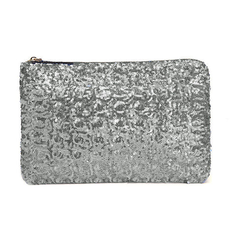 Image of Sequin Clutch Silver Virtual Glam Shop