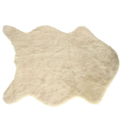 Image of Faux Sheepskin Rug White Virtual Glam Shop