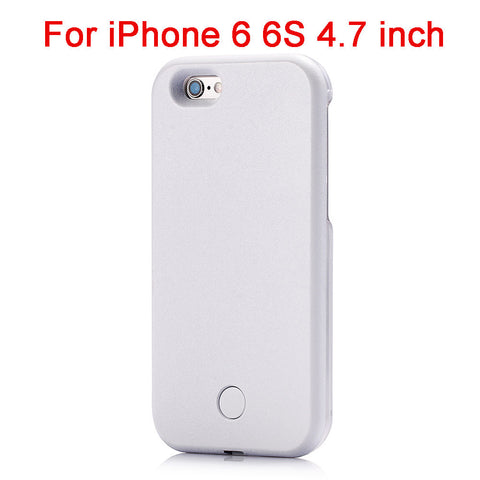 Luxury LED Selfie Phone Case White i6 Virtual Glam Shop