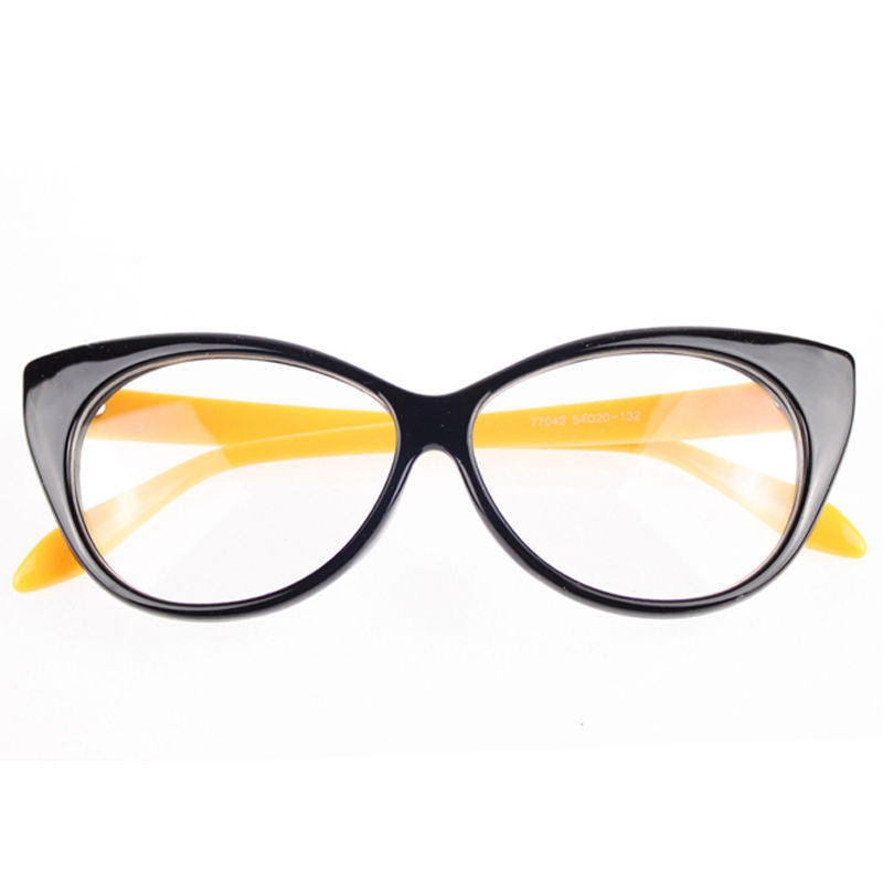 Clear Cat Eye Glam Fashion Eyewear Yellow Virtual Glam Shop