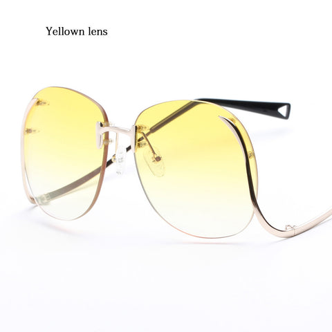 Vintage Sideline Glasses Yellow lens Virtual Glam Shop