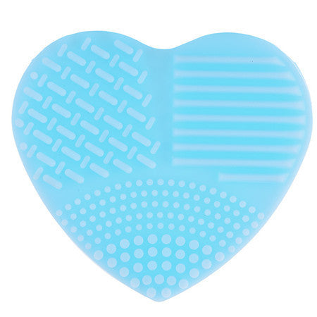 Heart Shape Silicone Makeup Brush CLEANING TOOL Virtual Glam Shop