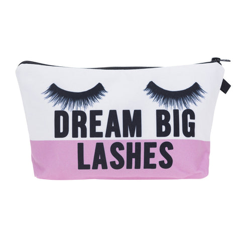 Dream Big Lashes Cosmetic Bag Dream Big Lashes Cosmetic Bag Virtual Glam Shop
