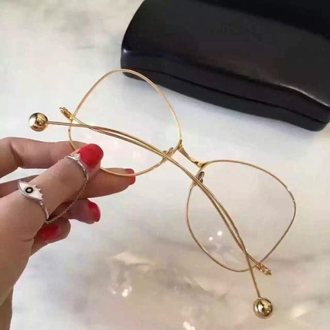 Image of Vintage Butterfly Glasses gold frame Virtual Glam Shop
