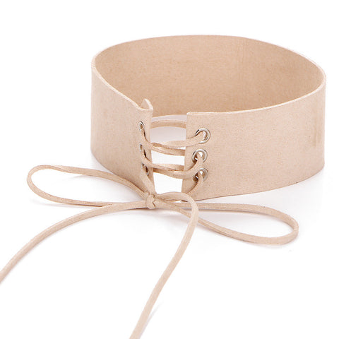 Image of All Laced Up Choker nude Virtual Glam Shop