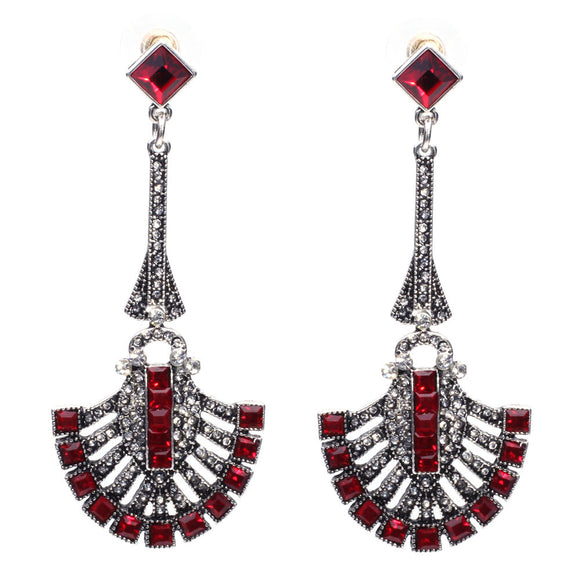 Chandelier Drop Earrings Red Virtual Glam Shop