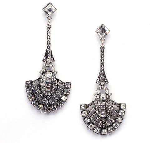 Image of Chandelier Drop Earrings White Virtual Glam Shop