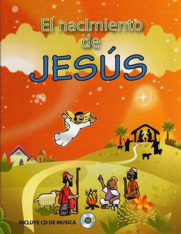 El nacimiento de Jesús libro para colorear con CD (The Birth of Jesus coloring book and sing-a-long CD in Spanish)