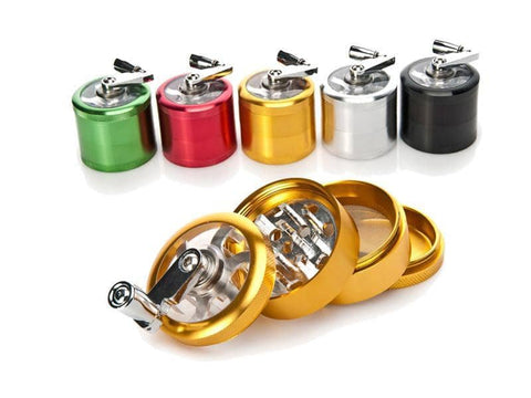 4 Layers Metal Aluminum Herb Grinder - Cloud9 City - Canada's Dry Herb & Wax Vaporizer Shop