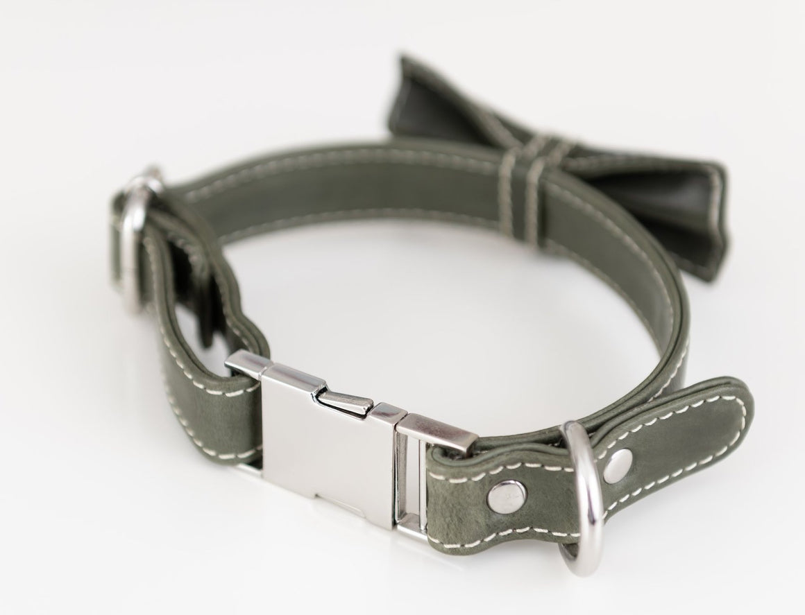 Bow Tie Collar - Olive