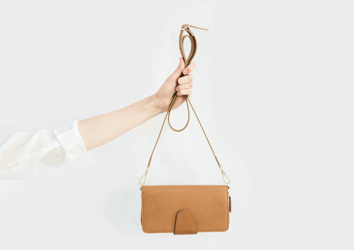 Crossbody Wallet - Tan