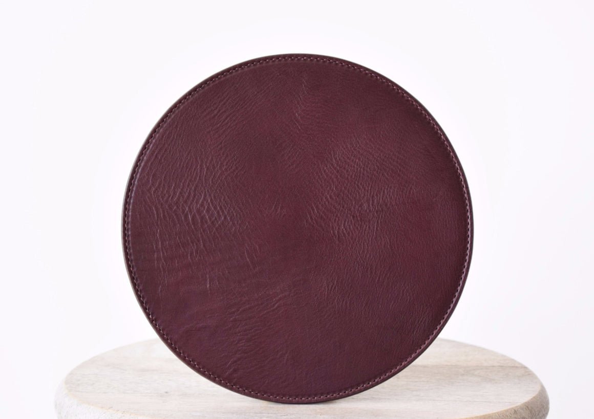 Leather Mousepad - Navy