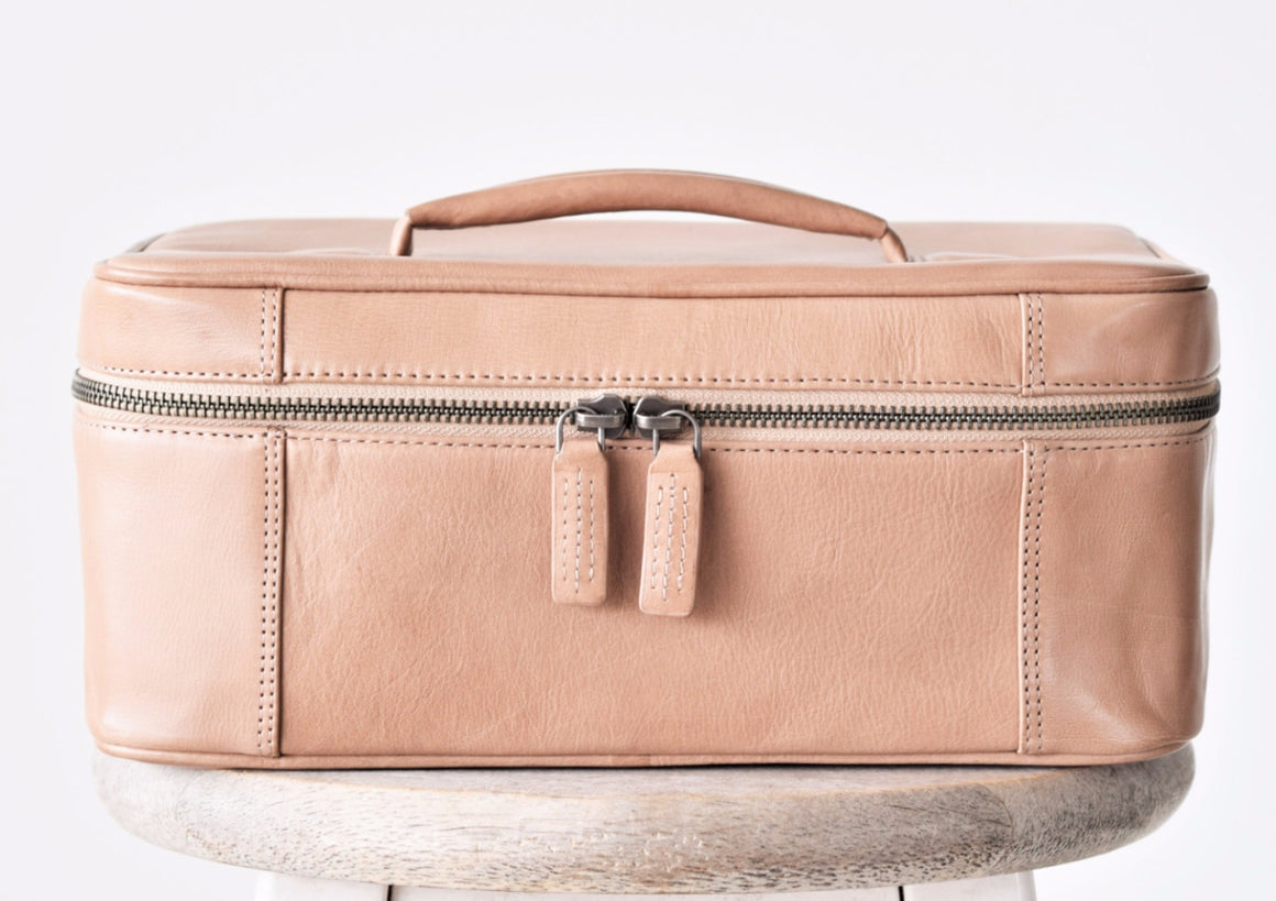 Large Toiletry Bag - Latte