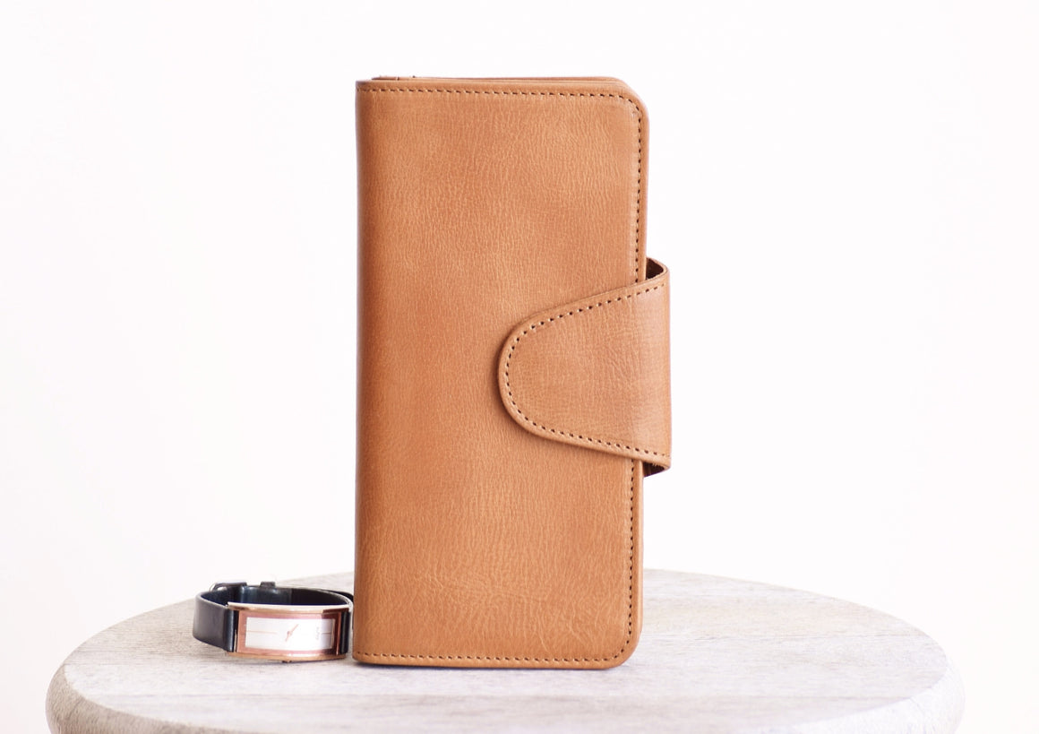Trifold Wallet - Tan