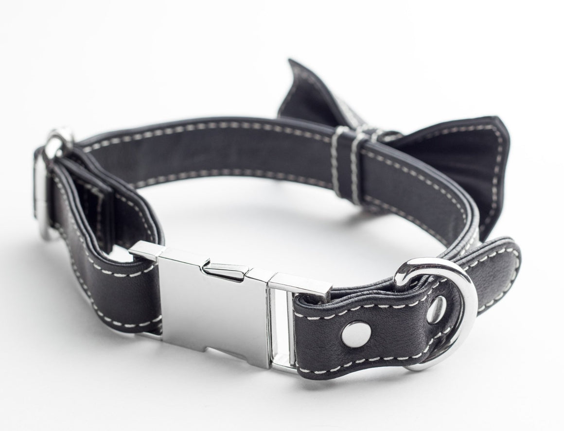 Bow Tie Collar - Black