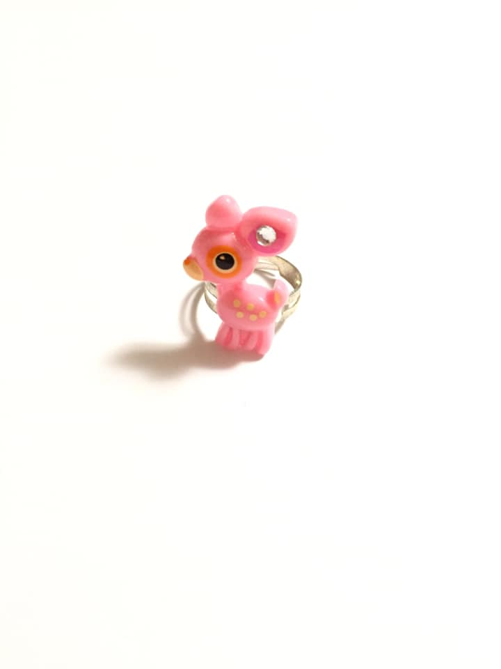Pink Deer Adjustable Ring
