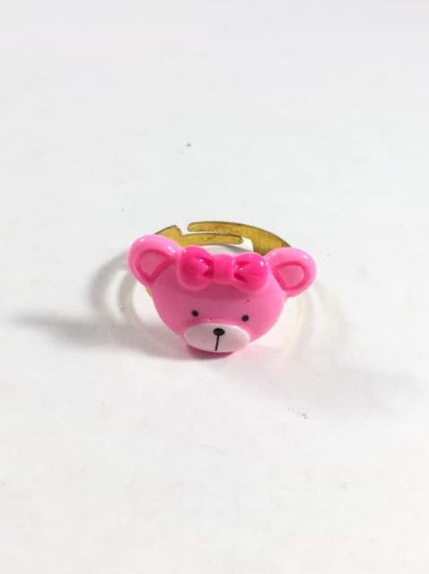 Pink Teddy Bear Adjustable Ring