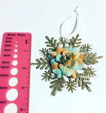 Load image into Gallery viewer, Flower Snowflake Christmas Ornament