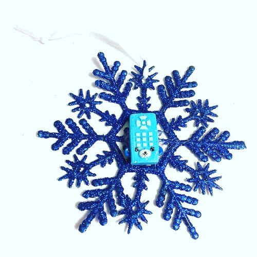 Cartoon Remote Control Snowflake Christmas Ornament