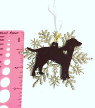 Load image into Gallery viewer, Chocolate Lab Snowflake Christmas Ornament