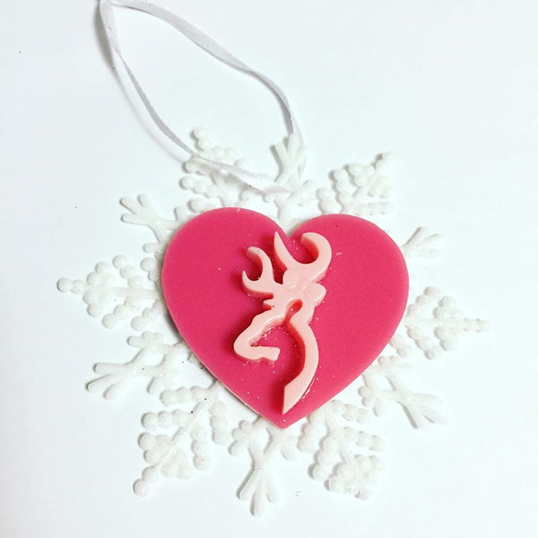 Deer Snowflake Christmas Ornament