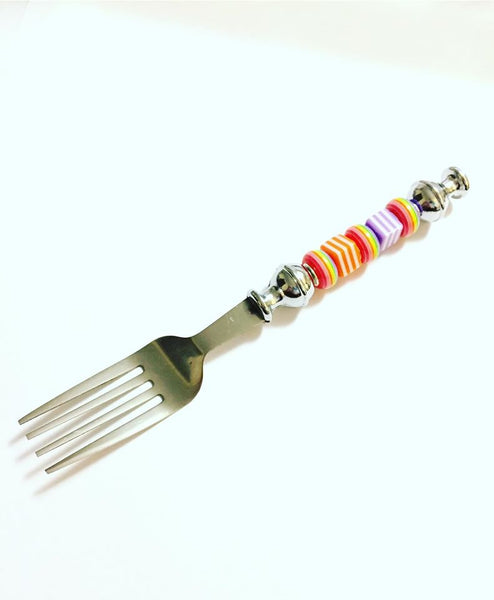 Beaded Stainless Steel Party Gift Fork