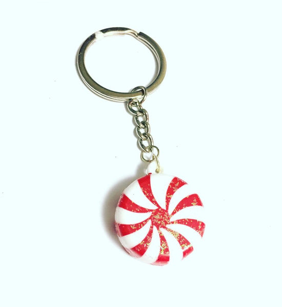 Peppermint Charm Key Chain