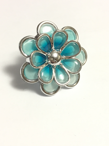 Blue Flower Rings