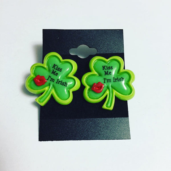 Four Leaf Clover Post Earrings