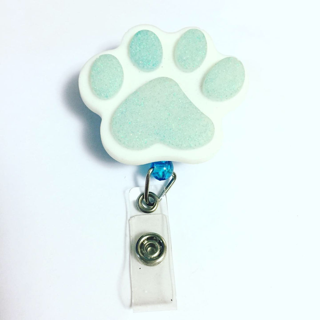 Pet Paw Name Badge Reel
