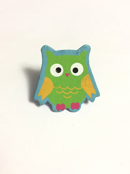 Wooden Owl Adjustable Ring