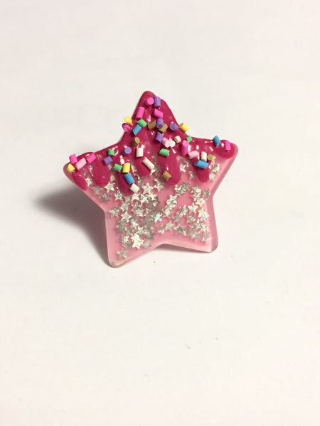 Sprinkle Frosted Star Ring