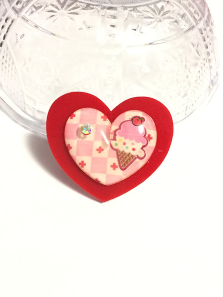 Ice Cream Heart Ring