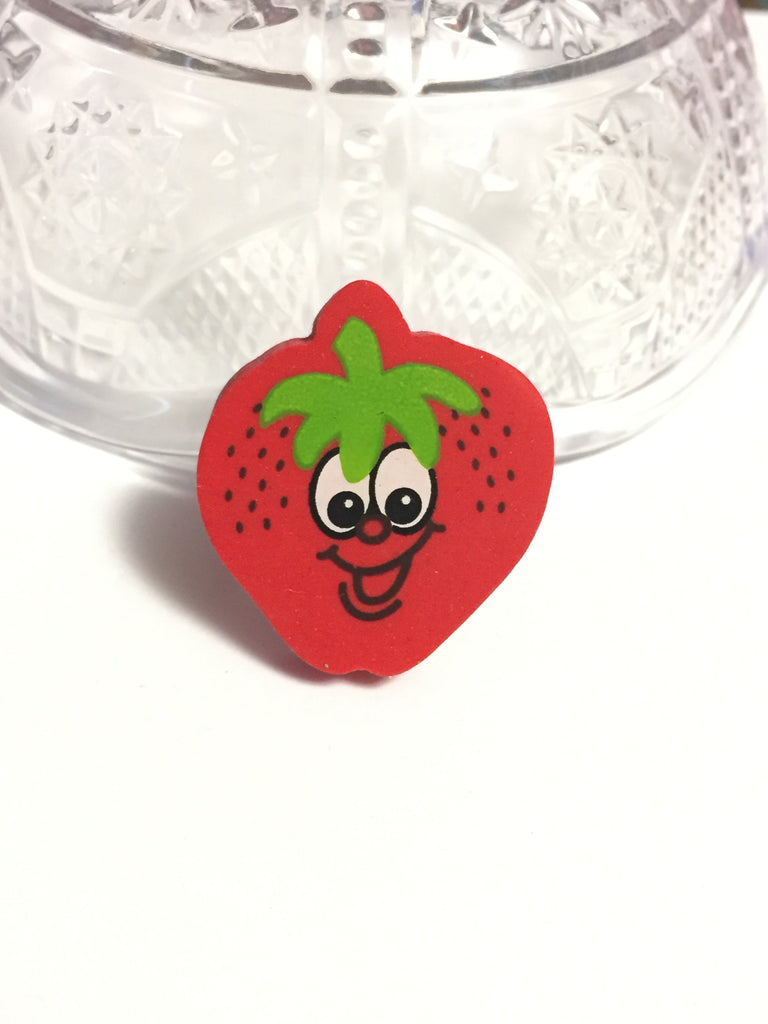 Strawberry Eraser Ring