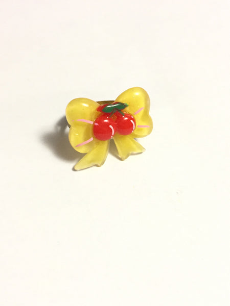 Yellow Bow Ring