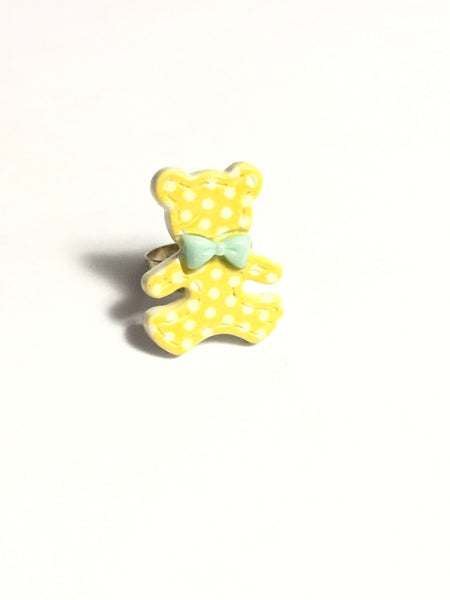 Yellow Teddy Bear Ring