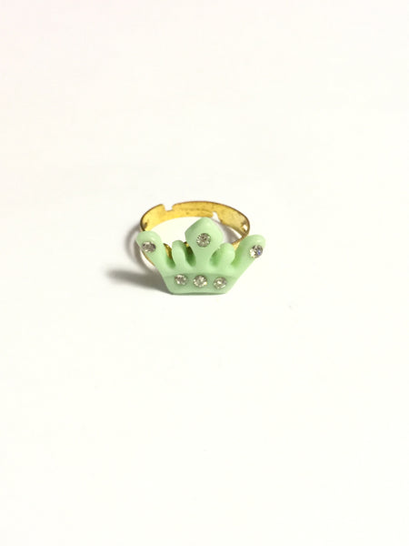 Mint Green Crown Ring