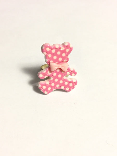 Pink Teddy Bear Ring