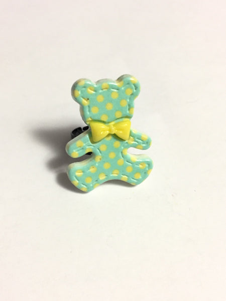 Green Teddy Bear Ring